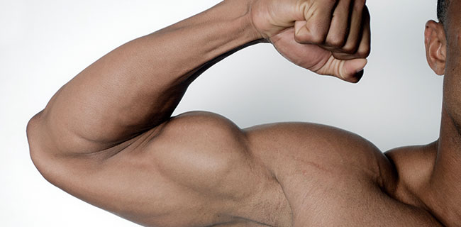 筋肉モリモリな上腕二頭筋